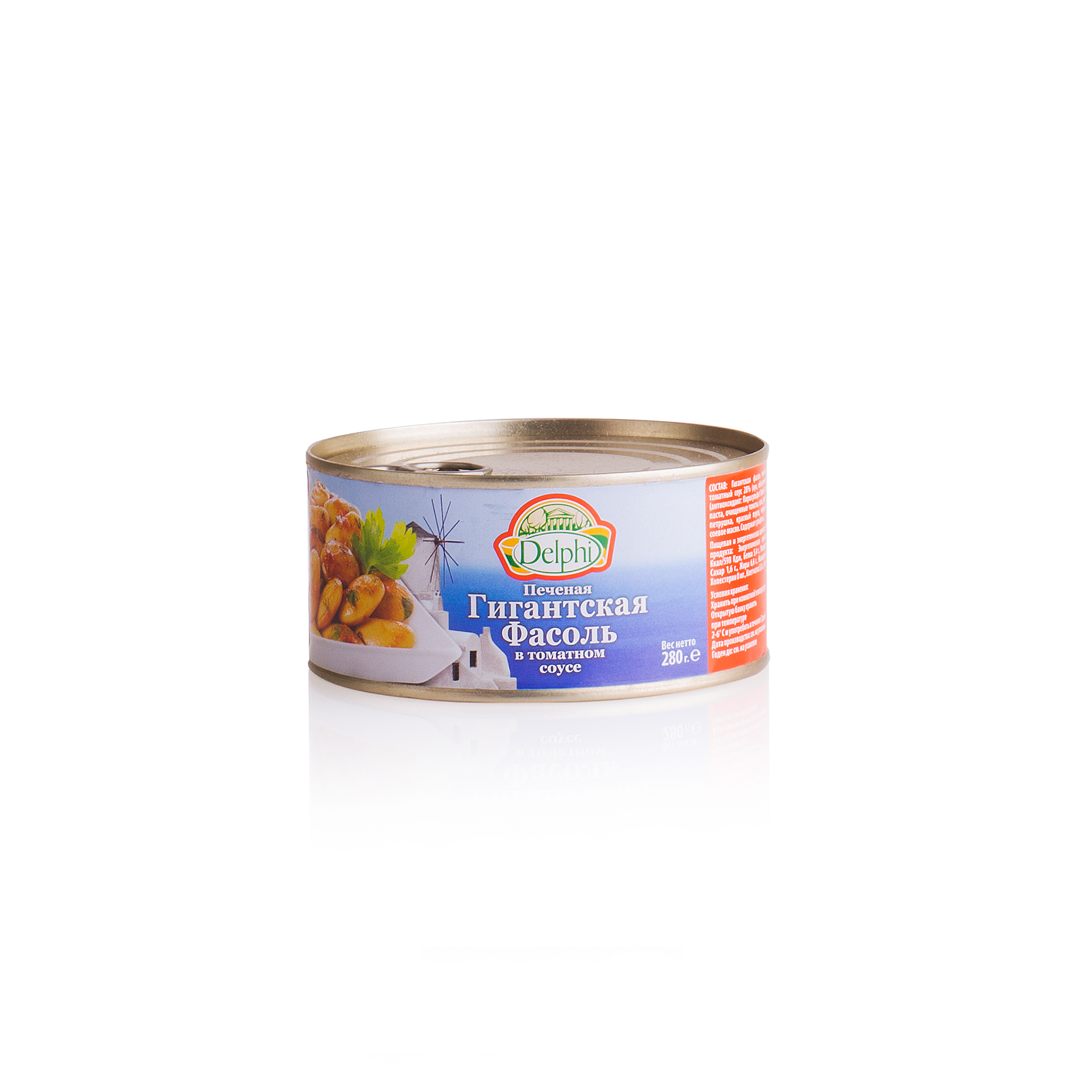 Фасоль печеная, в томатном соусе, DELPHI 280г