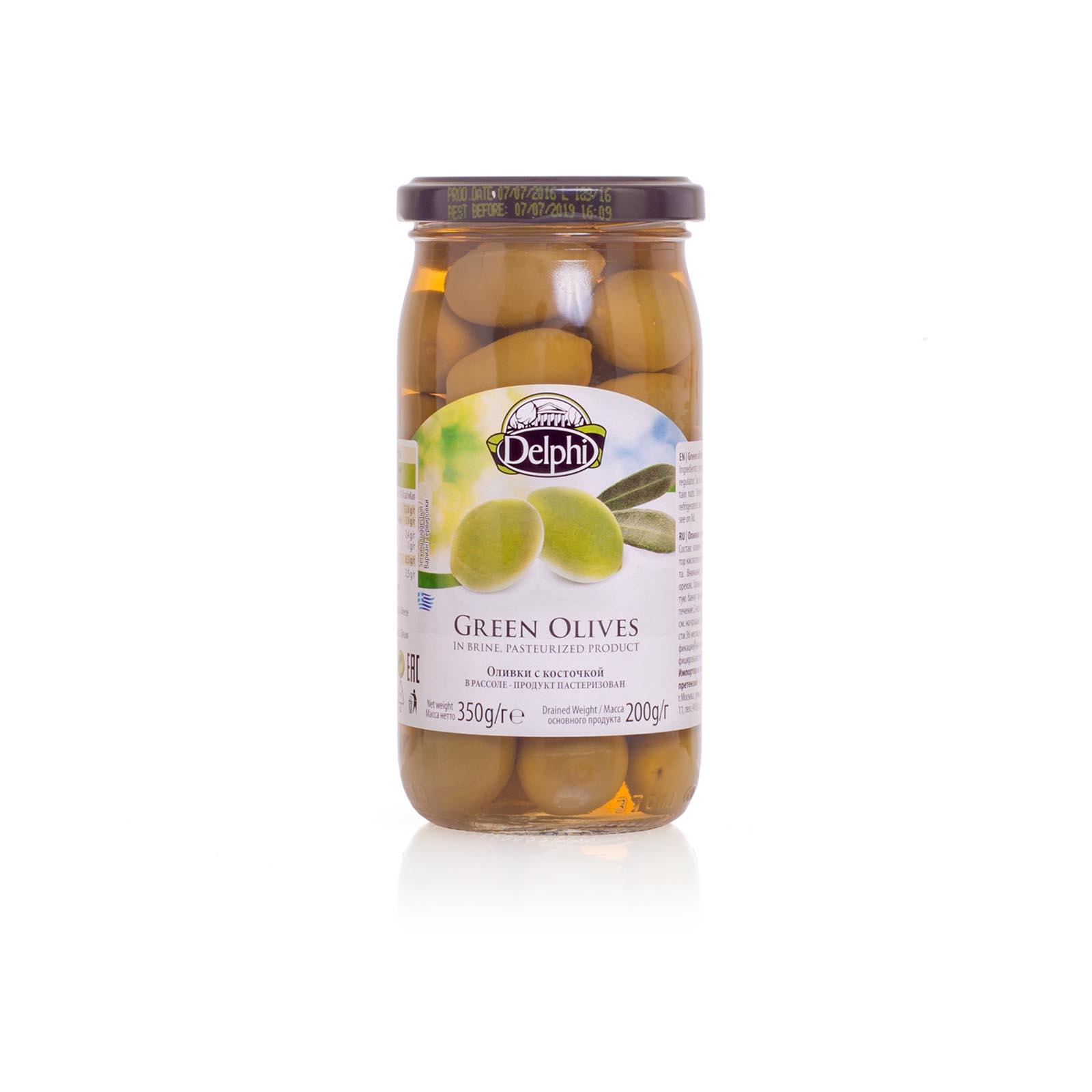 Оливки с косточкой в рассоле DELPHI 350г