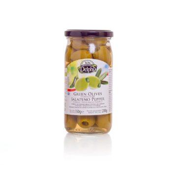 Оливки, фаршированные перцем Джалапено, DELPHI 350г