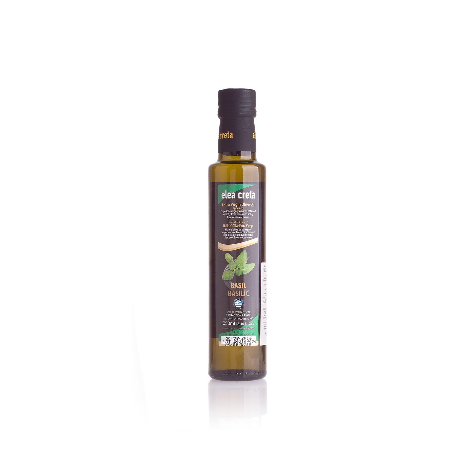 Оливковое масло Extra Virgin с базиликом ELEA CRETA 0,25л