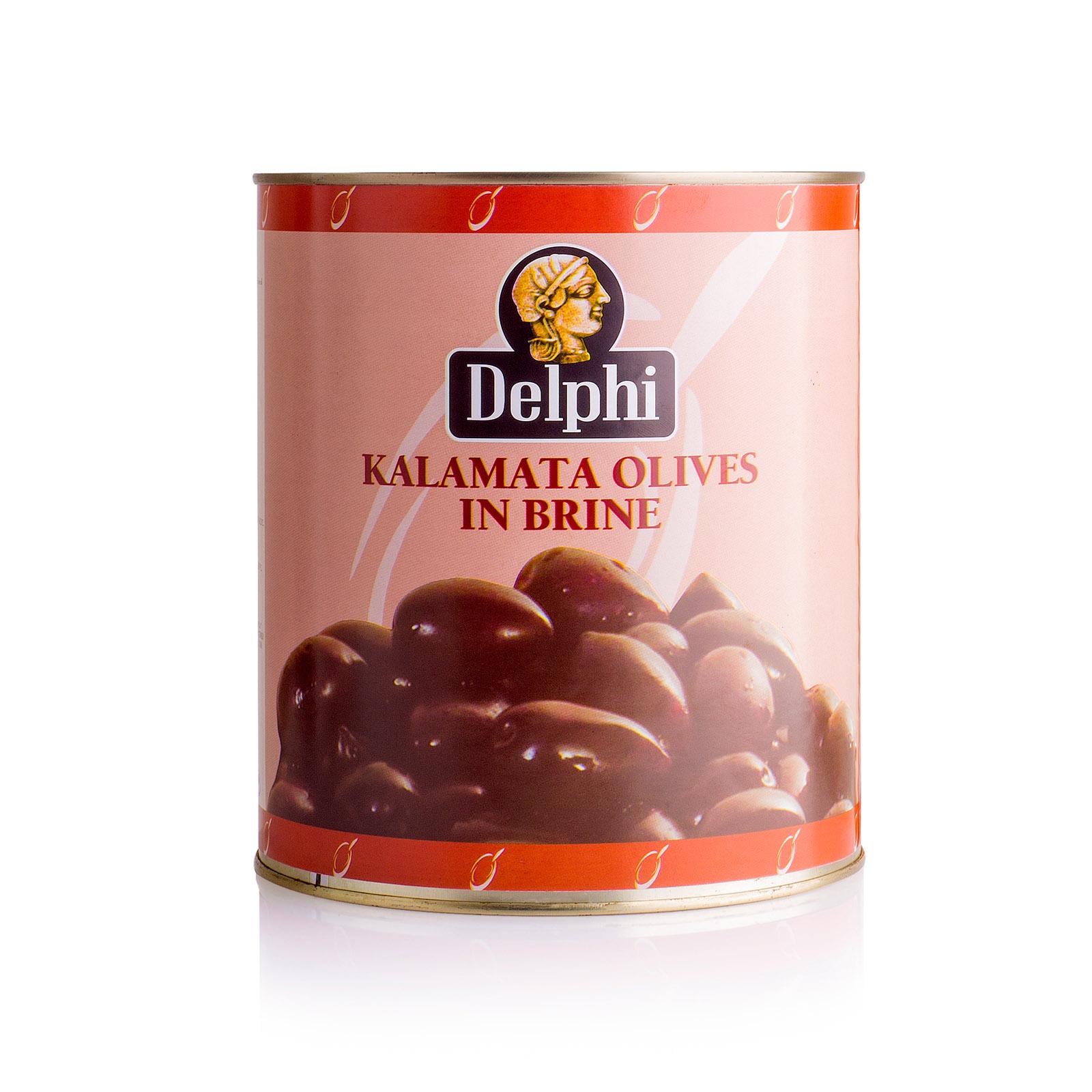 Маслины Kalamata с косточкой в рассоле Extra Large 201-230 DELPHI 3000г