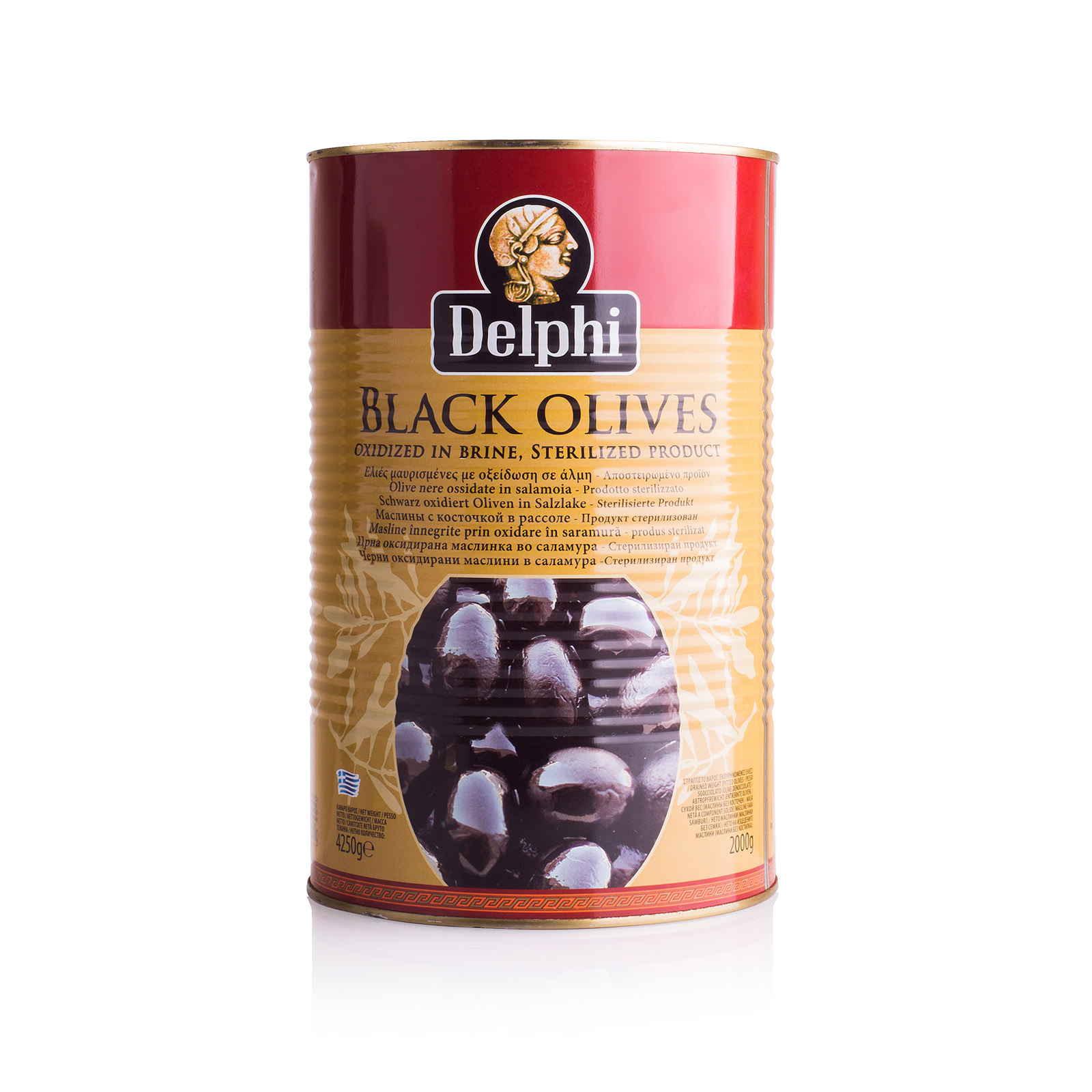 Маслины без косточек в рассоле Brilliant 291-320 DELPHI 4250г