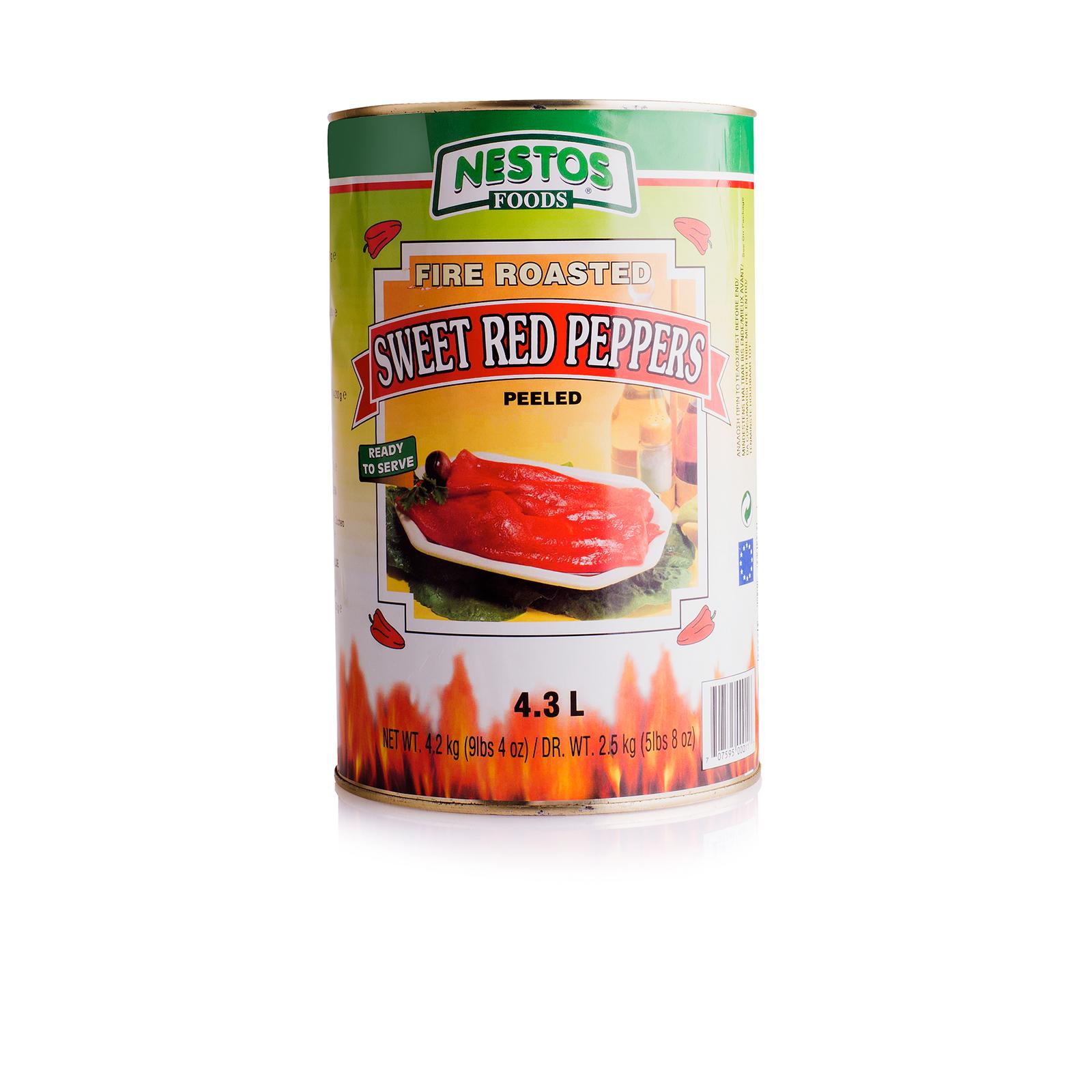 Перец красный, печеный, NESTOS 4200г