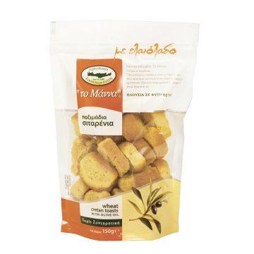 Сухари пшеничные с оливковым маслом MANNA 150 г