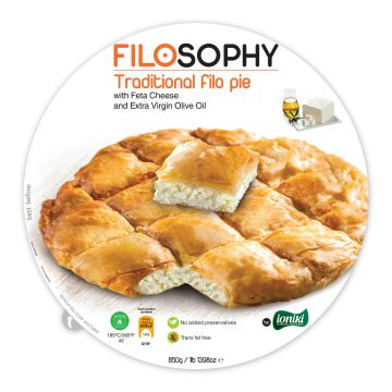 19.0010,1 Traditional Filo pie with Feta Cheese and extra virgin olive oil