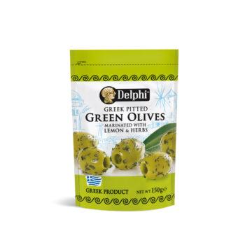 Оливки зеленые маринованные с травами и лимоном дойпак