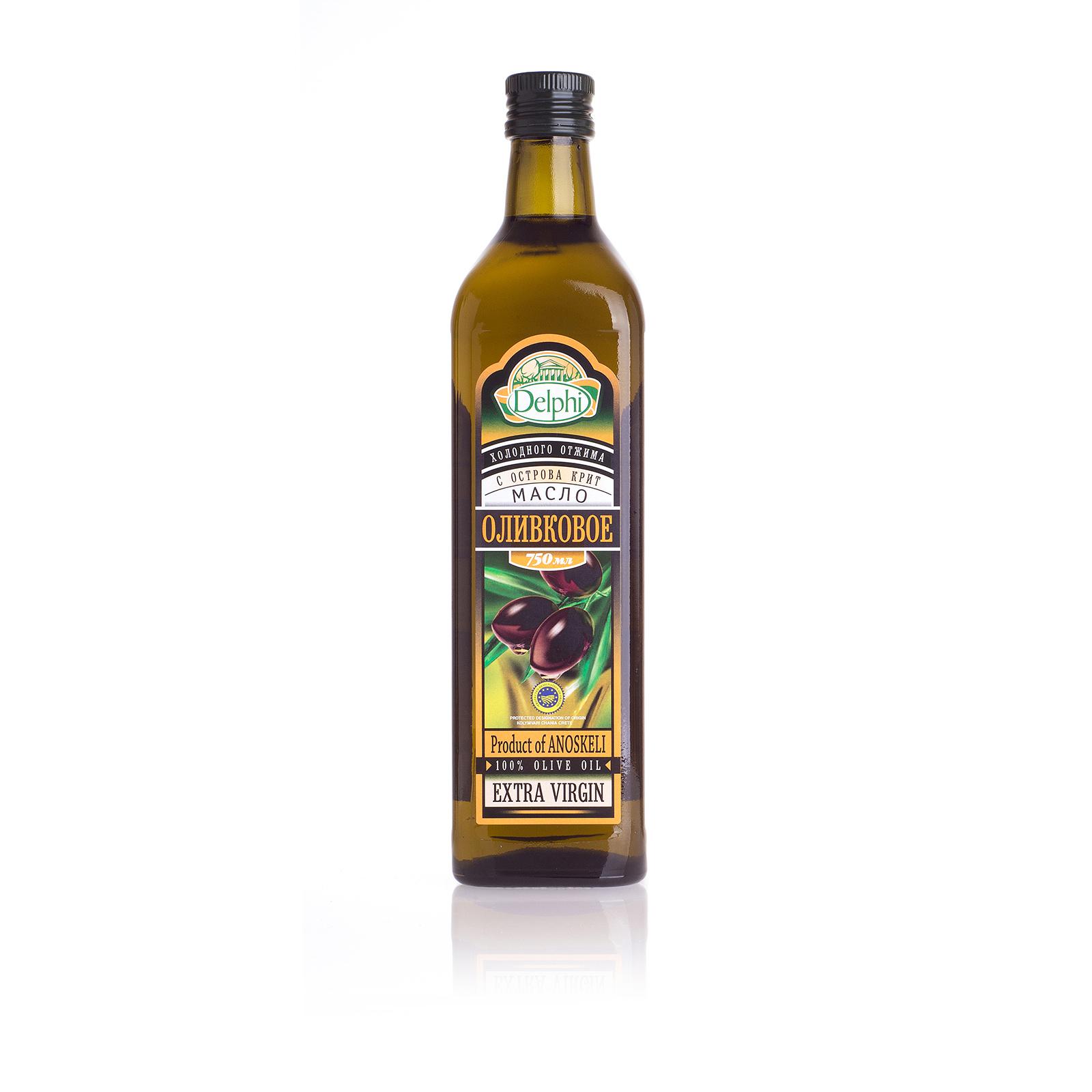 Оливковое масло Extra Virgin DELPHI P.D.O. 0,75л