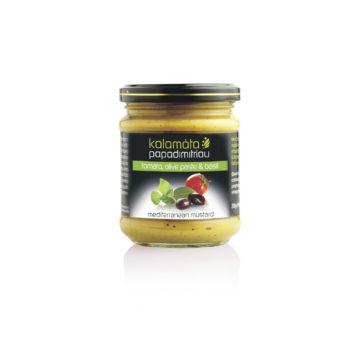 Горчица с оливковой пастой, томатами и базиликом PAPADIMITRIOU 200г
