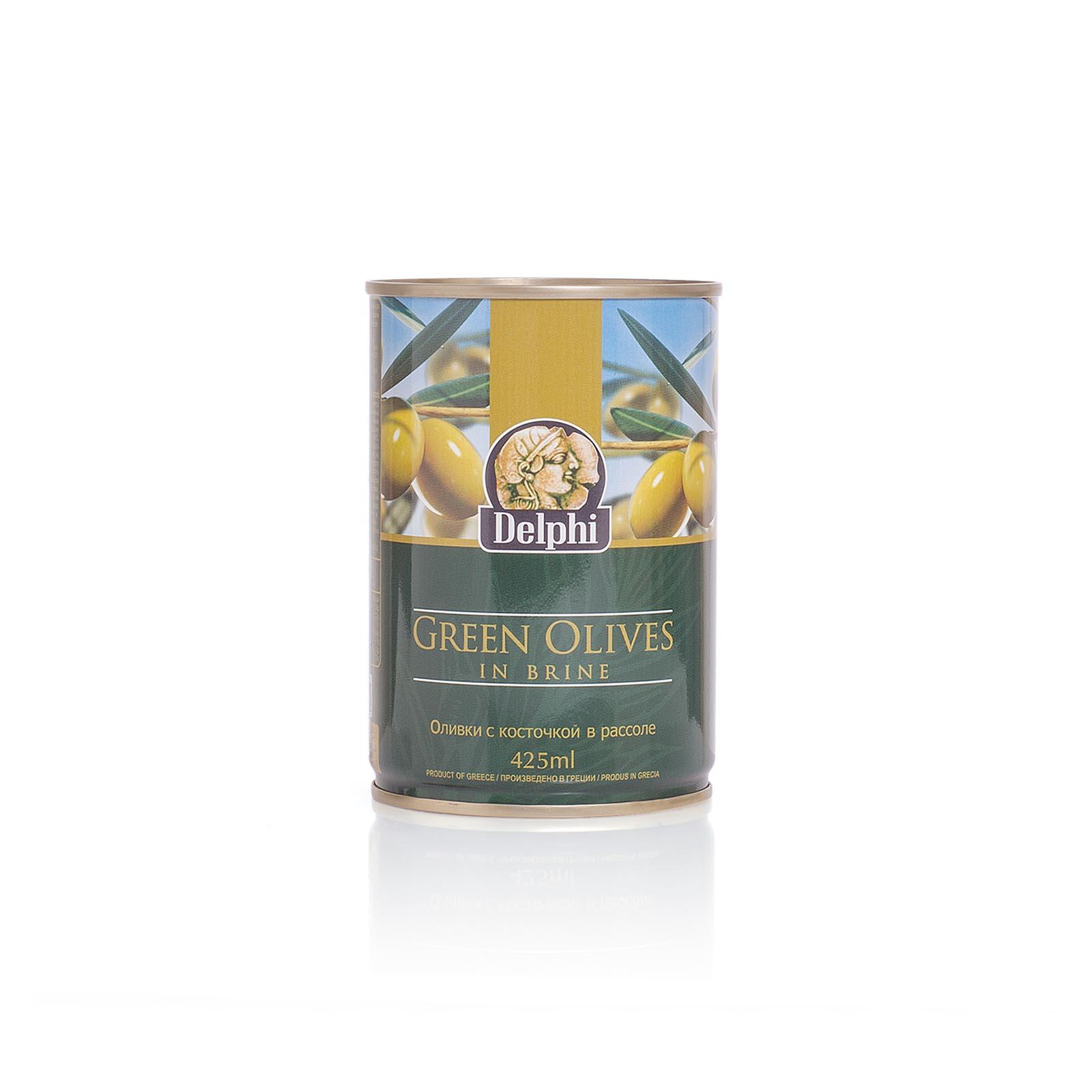 Оливки с косточкой в рассоле DELPHI 400г