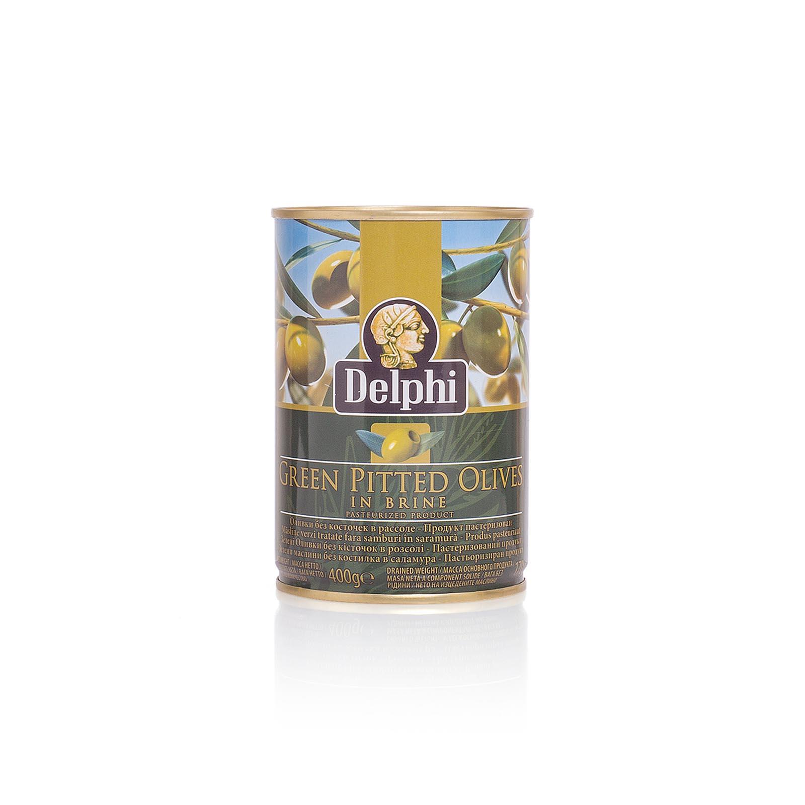 Оливки без косточки в рассоле DELPHI 400г