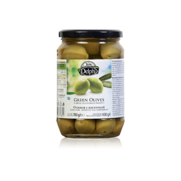 Оливки с косточкой рассоле DELPHI 700г