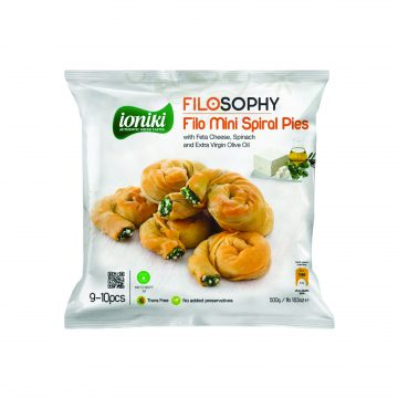 19.0008,1Filo mini spiral pies with Feta Cheese Spinach Extra Virgin Olive Oil