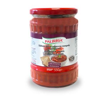 42.0034 Соус из красных жареных перцев и баклажанов PALIRRIA 550г стекло