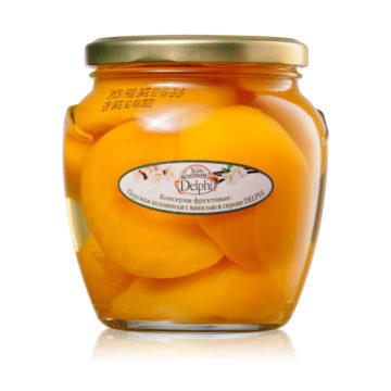 20.0008 Персики половинки с ванилью в сиропе 550 г