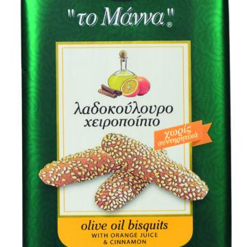 15.0005,1 Печенье с оливковым маслом, апельсиновым соком и корицей MANNA 145г