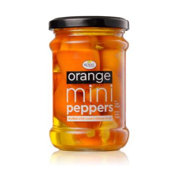 42.0038 Перец мини оранжевый, фаршированный сыром, в масле 250 г стекло