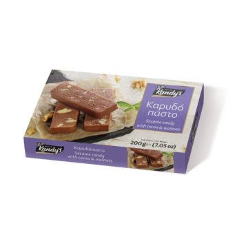 """13.0055 Десерт из кунжута с какао и грецким орехом """"каридопасто"""" KANDY'S"""