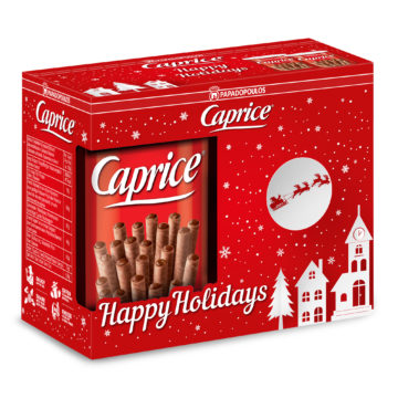 13.0058 Вафли венские с фундуком и шоколадным кремом Caprice (новогодняя упаковка) 2х250 гр
