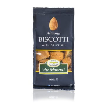 15.0012,1 Печенье бискотти с миндалём и оливковым маслом MANNA 160г
